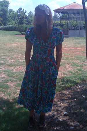 vintage dress - sam edelman shoes - Anthropologie hat