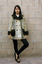 1960S VINTAGE LEOPARD CHEETAH PRINT COAT jacket