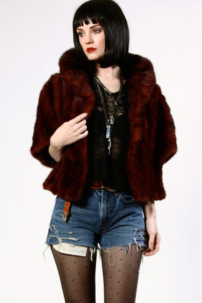 maroon THRIFTEDnet jacket