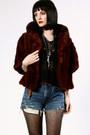 Maroon-thriftednet-jacket