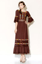 dark brown vintage dress