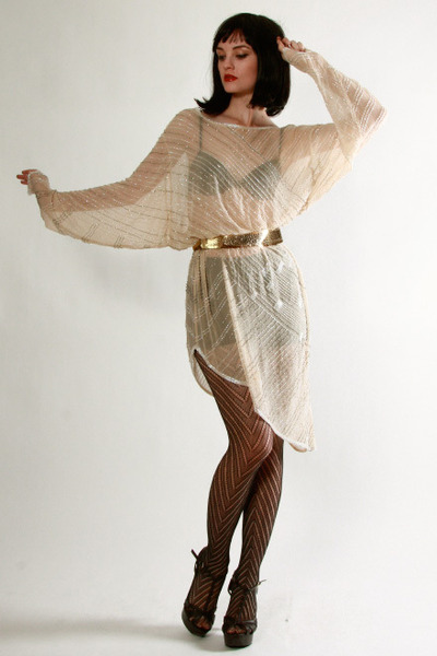 beige Vintage from THRIFTEDnet dress