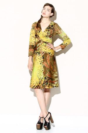 tropical print vintage dress