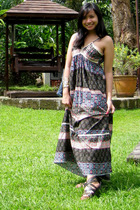 from Bangkok maxi dress - from Bangkok studded sandals shoes - from Bangkok cuff