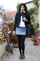 DIY shirt - moms jacket - Michael Kors bag - Fornarina sneakers - Mango skirt