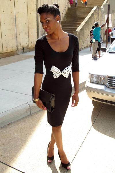 bb13ef7895c black Forever 21 dress - white polka dots Love Culture belt