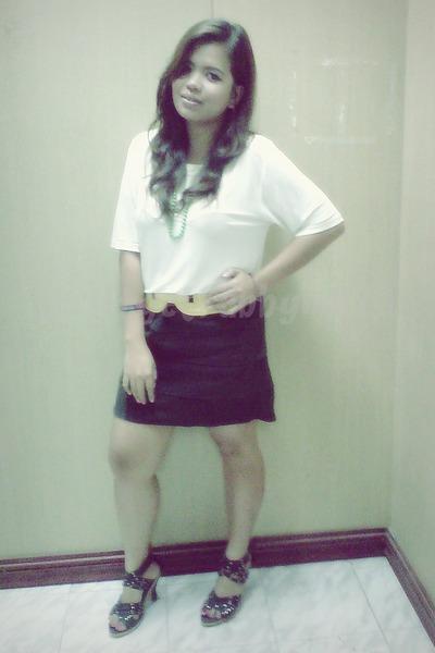 top - moss bandage skirt