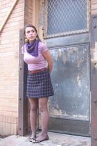 scarf - skirt - belt - Target skirt - Forever 21 shoes -