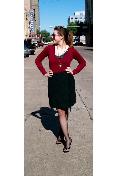 skirt - Forever 21 sweater - Target leggings - shoes