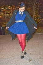 navy American Apparel dress - black Aldo boots - dark khaki vintage belt