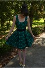 Turquoise-blue-patterned-dress-review-dress