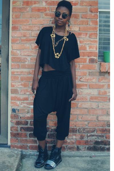 cropped H&M shirt - drop-crotch H&M pants
