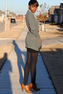 Gray-forever-21-cardigan-white-american-apparel-dress-brown-belt-brown-f