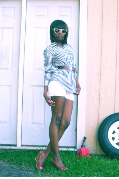 belt - forever 21 sunglasses - Steve Madden shoes