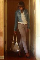 black Forever 21 shoes - gray soft Forever 21 jeans - beige Minicci bag
