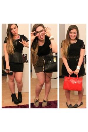 Topshop top - Michael Kors bag - Mango bag - Renner shorts - Zara shorts