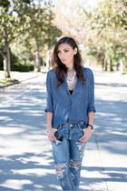 denim button up Bella Dahl shirt - sky blue Bella Dahl shirt