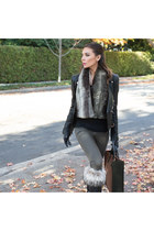 leather jacket Skingraft jacket - jeans YMI Jeans jeans