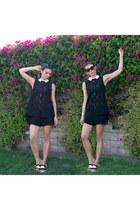 crepe Helmut Lang shorts - audrey glasses Celine sunglasses