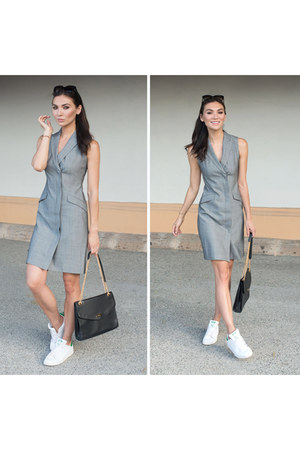 tuxedo dress banana republic dress - Adidas sneakers