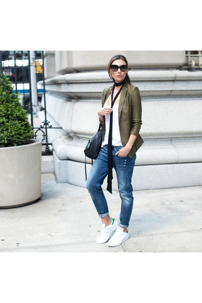 blazer SAU jacket - stan smith Adidas shoes - boyfriend jeans G Star jeans