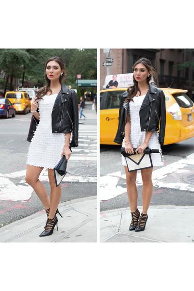moto jacket Reformation jacket - cage heels carolinna espinosa shoes