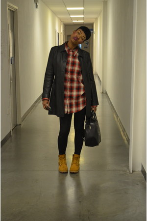 Timberland boots - Topshop jeans - Thrift Store jacket - Gap shirt - vintage bag