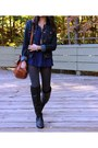 Black-aldo-boots-navy-american-eagle-jacket-gray-forever-21-tights