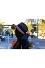 Anthropologie-hat-brandy-melville-sweater-justfab-purse-garage-top