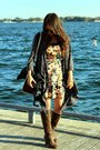 Brown-forever-21-boots-urban-outfitters-dress-navy-american-eagle-jacket
