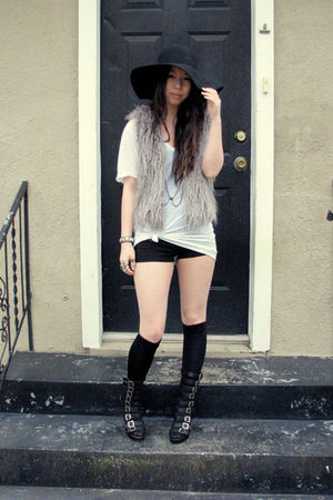 accessories - Jeffrey Campbell shoes - vest - American Apparel shirt - accessori