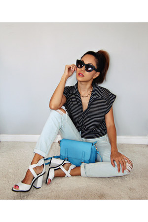 Kelsi Dagger heels - Seven For All Mankind jeans - Forever 21 top