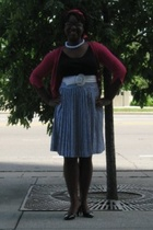 vintage skirt - bananna republic sweater - Target shirt