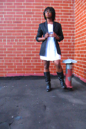 thrifted blazer - Macys dress