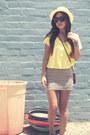 F21-hat-h-m-shirt-vintage-bag-h-m-skirt