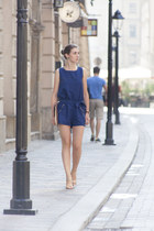 gold Zara sandals - navy New Dress bodysuit