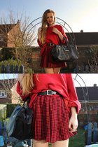 tartan Jumble sale skirt - red Jumble sale jumper