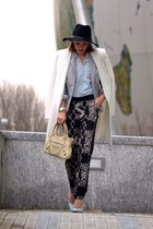 Zara coat - Gap shirt - balenciaga bag - Fabrik pants - shoemint pumps