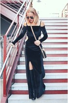 Castles Couture dress - loeffler randall bag - ray-ban glasses