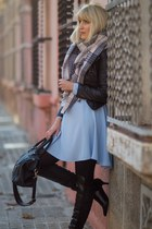 black Marypaz boots - light blue Primark dress