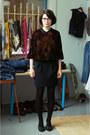 Black-thrifted-shirt-black-club-monaco-skirt-black-aldo-heels