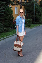 H&M shorts - Zara shirt - asoscom bag - Zara sandals - H&M top