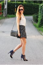 Zara shoes - ebaycouk bag - H&M skirt - Zara t-shirt
