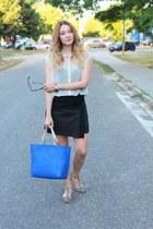 Zara bag - Zara skirt - Zara flats - asos blouse