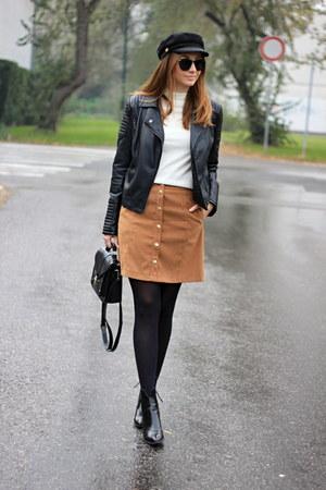 Zara shoes - Choies hat - Primark sweater - New Yorker bag - F&F skirt