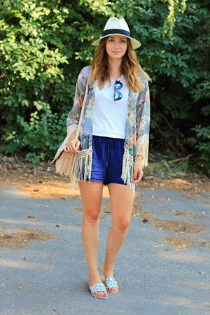 kimono shein cardigan - Mango bag - F&F sandals
