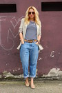 Loafers-asos-shoes-levis-jeans-zara-blazer-vintage-belt-no-brand-top