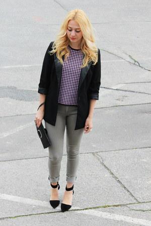 vintage top - choiescom shoes - H&M jeans - New Yorker blazer