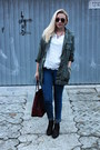 Chelsea-ankle-ebay-boots-new-yorker-jacket-mango-bag-lace-lindex-top