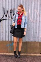 Primark shirt - Zara boots - H&M jacket - Zara skirt
